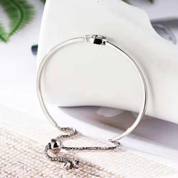 Western 2018 Mode Simple Bijoux Pour Femmes Top Qualité 925 Bague En Argent Sterling Avec Diamant Réglable Stretch Bracelets ? partir de fabricateur
