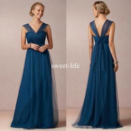 Vestido de dama de honor convertible púrpura online-2018 convertible azul verde vestidos de dama de honor para la boda correas transformables que fluye una línea púrpura damas de honor vestidos desgaste de la tarde