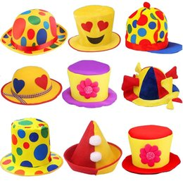 68b99c1771e 2018 Funny Colorful Clown Hat Men Women Stage Performance Party Hat Adults Carnival  Party Decoration
