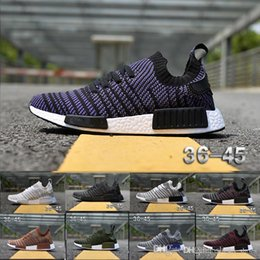 Wholesale Womens Shoes Size 14 - 2018 NMD R1 PK Running Shoes XR1 Runner Mens Womens Sneakers 14 Colors Zebra Black White Grey Green Purple Brown Free Shipping Size US5-11