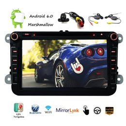Wholesale mp3 memory - Android 6.0 Car DVD Player 8'' Capacitive Touch Screen Radio Stereo HD 1080p GPS Navigation Multi Player 1G+16G Memory Flash Wifi Vehicle