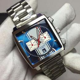 Wholesale Rs Steel - men watch 2 color luxury quartz movement Calibre 11 RS Caliper fashion watches Chronograph Men's monaco watch AAA quality wristwatches