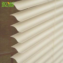 """Cortinas venezianas on-line-1 """"slats s forma venezianas para cortinas de janela, com sistema de cadeia de alumínio headrail frete grátis"""