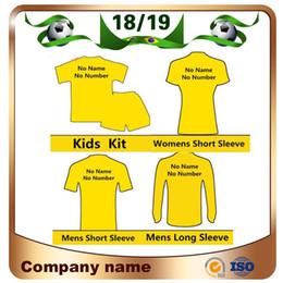uniformes de equipo de futbol Rebajas 18/19 Equipo del club Jersey de fútbol de alta calidad 2019 Cualquier hombre Mujer Kit para niños Camisas de fútbol Deje el mensaje del equipo personalizar uniforme de fútbol