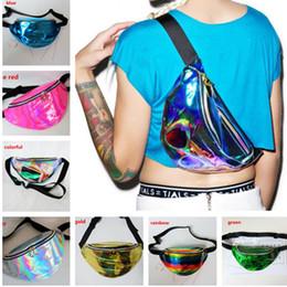 Pu holográfica online-Bolsa de cintura holográfica con láser Mochilas Mochilas transparentes Translúcido Impermeable Holograma de arco iris Bolsos de PU Unisex Bolsos de viaje de playa