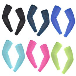 Running 1 Pair Breathable Uv Protection Running Arm Sleeves Basketball Elbow Pad Fitness Quick Dry Armguards Sports Cycling Arm Warmer Fashionable Patterns Running Arm Warmers