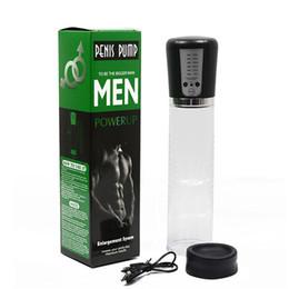 2019 pompa ad ingrandimento per uomini Pompa elettrica automatica del pene Pompa ricaricabile dell'aspiratore del pene ricaricabile USB Ingrandimento estensore del pene Giocattoli del sesso per gli uomini pompa ad ingrandimento per uomini economici