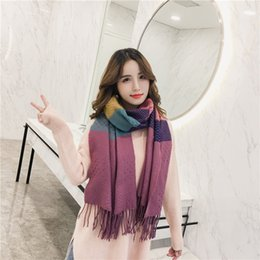 Wholesale Shawls Wraps For Sale - New Sale Autumn Winter Warm Scarf Shawl Women Stole Patchwork Plaid Scarves Classic Neckerchief Shawls and Wraps For Ladies