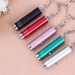 baterías portátiles 12v Rebajas Mini portátil pluma LED luz de la antorcha operación de la batería UV llavero bolsillo pluma linterna para trabajar en el camping