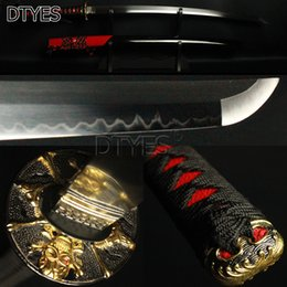 Wholesale antique japanese swords - DTYES Individualized Skull Japanese Samurai Katana Sword T10 Carbon Steel Clay Tempered without Blood Groove Strong Blade Katana Sharp