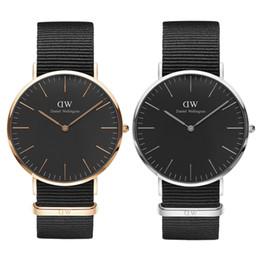 Relojes de mujer militar online-Diseñador Reloj Daniel Relojes Hombres Mujeres de Lujo 36 40mm Pareja Fahion Relojes de pulsera de Oro Reloj de Calidad Militar Montres pour femmes