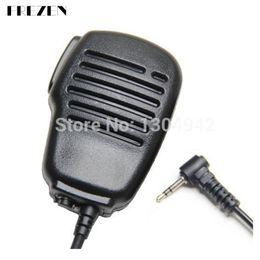 Wholesale two way radios microphone - Rainproof Shoulder Remote Speaker Mic Microphone PTT For Motorola Walkie Talkie Two Way Radio 1pin 2.5mm