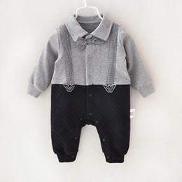 45acb0745bd8 Pamajas baby Boys romper Gentleman Air cotton ventilate Осенняя весна зима  новорожденная одежда Малыши мальчики комбинезон младенец