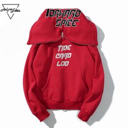 Wholesale Gd Hoodie - Aelfric Eden GD Style Sweatshirt Men Two Sided Wear Hoodies Sweatshirts Hip Hop Fleece New Design Stranger Things Hoodie PA180