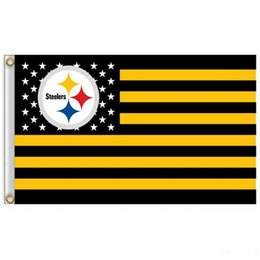 Wholesale cm club - Rugby Club Banner Flag 90*150cm 3x5 FT Polyester Flying Flag Striped Rugby Flags 7 Styles