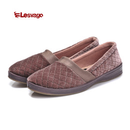 flock band Coupons - Lesvago Super Soft and Comfortable Diabetic Women Shoes Grid Pure Color Elastic Band Flock Diabetes Shoes LD7003