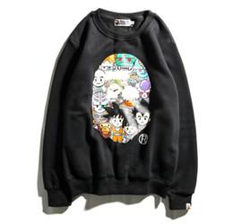 Wholesale Cartoon Characters Sweaters - Mens Winter Sweater alphanumeric cartoon Fashion Streetwear Dragon Ball Anime characters Hip-hop couple Sweatshirts