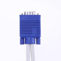 15 cavi vga online-Cavo Splitter VGA ALLOYSEED Dual 2 Monitor 15 pin Due Porte Maschio A Femmina