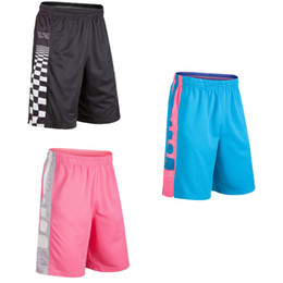 Wholesale Loose Black Trousers - Men's summer sports casual shorts, fitness, running, loose five points, trousers, men, elite, elite, pink and pink shorts.