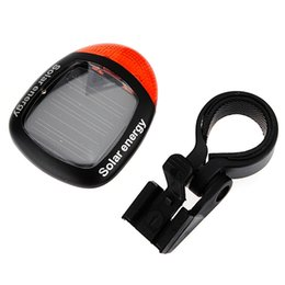 Wholesale solar safety lights - Waterproof Solar Power Bike Bicycle Rear Tail Red 2 LED 4 Mode Light Lamp MTB Safety Warning Bicycle taillight Lamp Bike Light