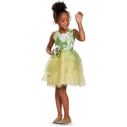 costumi indiani americani Sconti Darling Princess And The Rana Tiana Classic Child Costume di Halloween