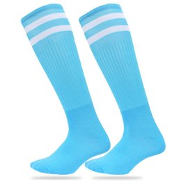 Wholesale lacrosse men - New Popular 10 color Men Women Kids Casual striped long tube Socks Professional Footballs lacrosse Knee High Socks