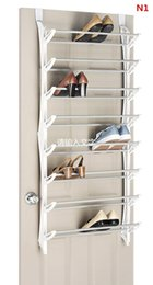 Wholesale Wall Mount Shoe Rack - Over-The-Door wall-mounted Resin Shoe Rack and 4 Pair Boot Stand Steel