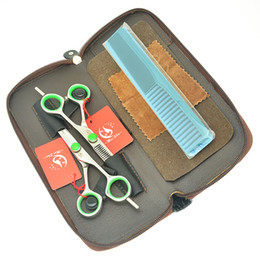 """Wholesale Hairdressing Bags - High Quality 5.5"""" 6.0"""" Meisha Hairdressing Scissors Kits Japan 440c Cutting Thinning Hair Shears for Kids with Comb Bag Hot Tijeras HA0388"""