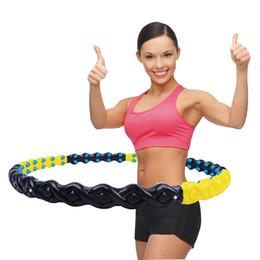 Il peso del hula-hoop di sport ha massaggiato il magnete di plastica di forma fisica hula hoop 108cm grande del prodotto da