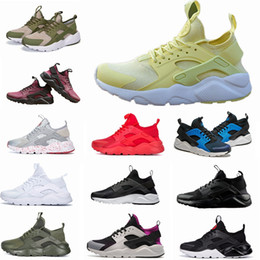 Wholesale free shoe laces - 2018 New Huarache IV Ultra Running shoes Huraches trainers for men & women Multicolor shoes Triple Huaraches sneakers free shipping