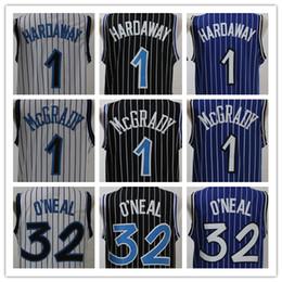 Wholesale Mcgrady S - 2018 Men jersey embroidery shirt 32 O'neal 1 Penny hardaway Jerseys 1 Tracy McGrady Basketball Jersey Free Shipping