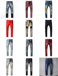 Argentina Venta al por mayor venta caliente moda Casual hombres Biker Jeans Denim pantalones rectos baratos de alta calidad Ripped Jeans para hombre Runway Vintage pantalones Jean cheap cheap high quality jeans Suministro