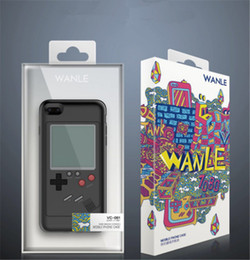 Wholesale Play Consoles - Gameboy Tetris Phone Cases For iPhone 6 6s 7 7plus 8plus Play Blokus Game Console Cover Protection Gift