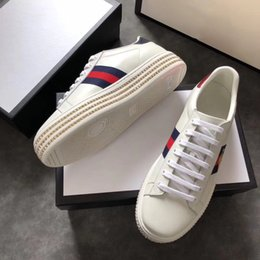 Wholesale Female Sneakers - 2018 New arrive women designer sneakers with top quality casual luxury brand female shoes with bee for sale size 35-40