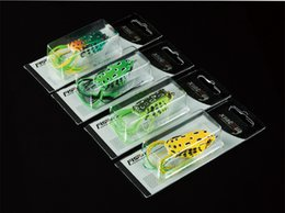 Wholesale Frog Wholesale - New Rubber Plastic Frog Lure 4.5cm-8g 5cm-11g 5.5cm-14g Lifelike Frog Snakehead Soft Bait with Box mix colors