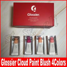 Wholesale face paintings - Glossier Cloud Paint Blush Cosmetics Haze Beam Duck Puff 4 colors Liquid Blush face Makeup Haze Beam Dusk Puff