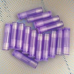 cajas de lápiz labial negro al por mayor Rebajas 5g Tubo de lápiz labial de color púrpura transparente Tubo delgado de bálsamo labial Lápiz labial Estuche de embalaje Contenedor Brillo labial Botella recargable Herramientas cosméticas