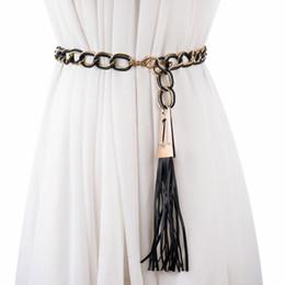 2019 mulheres da forma cintura fina Moda Dupla cor cinto de metal Cadeia Stretchy Strap Elegante cintura jogo cintos de vestido para mulheres finas mulheres cinto ceinture femme mulheres da forma cintura fina barato