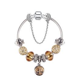 37f1fa458 925 Murano Glass Charm Bracelets Bead Christmas yellow Flower CZ Crystal  Charms Dangle For Women Original DIY Jewelry Style Fit Pandora