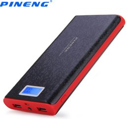 Wholesale External Battery Flashlight - Original PINENG PN-920 20000mAh Power Bank Dual USB Charging External Battery Charger with LCD Flashlight for Mobile Phone
