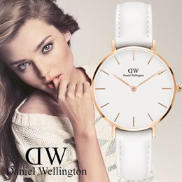 Wholesale Business Dress For Ladies - 2017 Minimalism Casual Women Watches Simple Stylish White 2017 Minimalism Casual Quartz Wristwatch for Lady Luxury Business Dress Watches