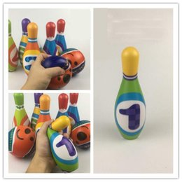 Wholesale stocking groups - Kids Bowling Sets 6 Colorful Numbered Pins and 2 Balls for toddlers and preschooler play indoor and outdoor alone or group play