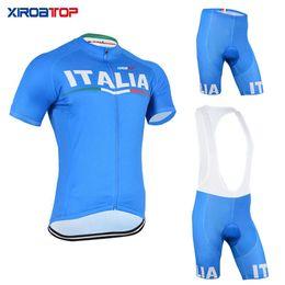 2020 ciclismo italia Precio bajo XIROATOP CALIENTE Italia Ciclismo Jersey Bib Shorts Ropa de bicicleta de montaña MTB Ropa de bicicleta Conjuntos de ciclismo Maillot Ropa Ciclismo ciclismo italia baratos