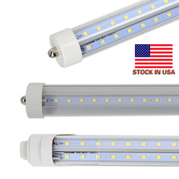 Wholesale Wholesale Stock Usa - V Shaped 8ft R17D led tubes single pin FA8 8feet t8 led light tubes 72W 65W 45W LED Fluorescent Tube Lamps AC 85-265V + Stock In USA