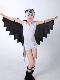 Inghiottire i vestiti online-2017 Nuovo stile per bambini Cosplay Piccola Rondine Animale esegui paillettes abbigliamento Ragazzi e ragazze Danza Vestiti congiunti