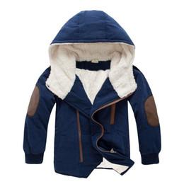 Мальчики хлопок Outwea пальто детские детская ягненка утолщение плюс бархат с капюшоном партии дети длинные хлопок одежда от