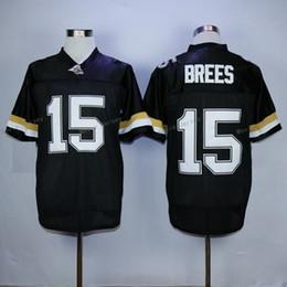 2019 jerseys negros baratos del balompié Purdue Boilermakers Drew Brees College Jerseys de fútbol baratos # 15 Drew Brees Home BLack rebajas jerseys negros baratos del balompié