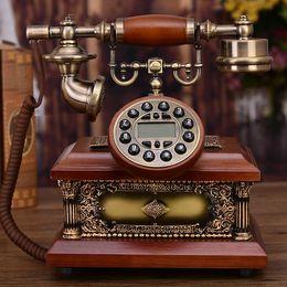 telefone de casa rosa quente Desconto high-end antique telefone europeu telefone retro telefone casa criativo landline americano