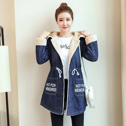 b026e1aeb26 2019 женские джинсовые куртки Осенняя зимняя женская куртка 2018 Lamb Jean  Coat Big Size M-