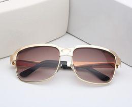 Wholesale Big Black Fashion Eyeglass Frames - European American fashion s039 sunglasses women metal big frame star style men sun glasses new 2018 male female eyeglasses no box